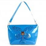 Сумка жен нат/кожа Vensi-71597F,  1отд+карм/перег,  голубой БЕЗ СКИДКИ 152480