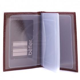Обложка для автодокументов натуральная кожа BV.1.-1.congnac  101133