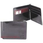 Зажим для купюр н/к-Z.6.SH.черный.   (откидная фурнитура,    6 внутр/карм,    тисн Евро) ,    черный