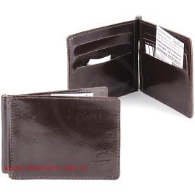 Зажим для купюр н/к-Z.6.SH.коричневый.   (откидная фурнитура,    6 внутр/карм,    тисн Евро) ,    коричневый