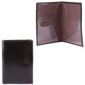 Обложка для паспорта натуральная кожа О.1.SH.коричневый 101184