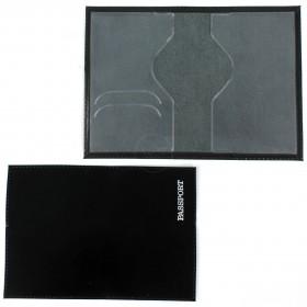 Обложка для паспорта н/к,   глад;   черн;   тисн-PASSPORT