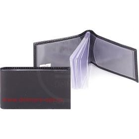 Визитница горизонтальная    (вкл 18 л)    н/к,    гладкий черн;    тисн-CARDS