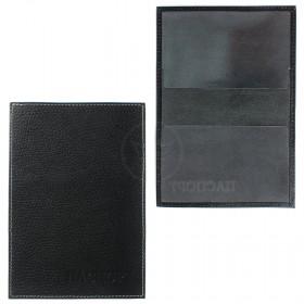 Обложка для паспорта Cayman-П 11М натуральная кожа черный флоттер (40)  104091