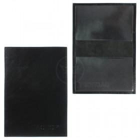 Обложка для паспорта Cayman-П 11Л натуральная кожа черный матовый (3)  104113