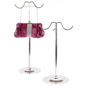 Подставка для сумки металлическая    (высота регулируемая 39-79см)    с двумя крючками
