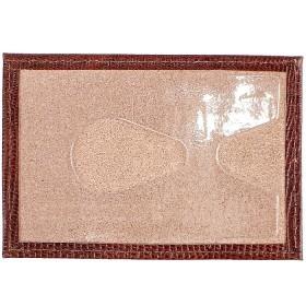 Обложка пропуск/карточка/проездной Premier-V-41 натуральная кожа коричн.темный игуана (84)  109858