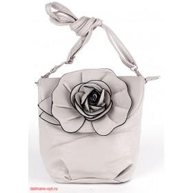 Сумка женская искусственная кожа 1039  (роза),  1 отд,  плеч/ремень,  светлосерый 112602
