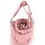 Сумка женская искусственная кожа 1039  (роза),  1 отд,  плеч/ремень,  пастель розовая 112604