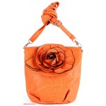Сумка женская искусственная кожа 1039  (роза),  1 отд,  плеч/ремень,  оранжевый 112605