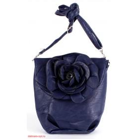 Сумка женская искусственная кожа 1039  (роза),  1 отд,  плеч/ремень,  синий 112606