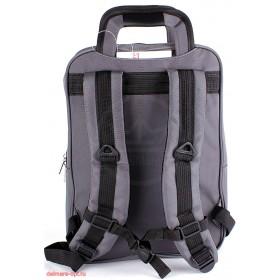 Рюкзак для ноутбука,  2506,  уплот/спинка,  2отд+отд для ноут,  2 внеш+4 внутренних кармана,  серый 112636