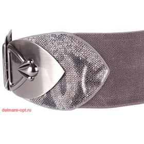 Ремень-резинка 5268,  отделка-питон,  серый,  шир 7, 5см 112668