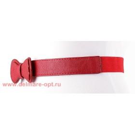 Ремень-резинка,  262,  бант мал,  красный,  шир 2, 5см 112675