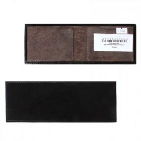 Обложка для удостоверения PRT-У-50 натуральная кожа черный наплак 115563
