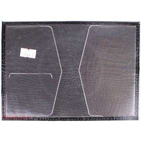 Обложка для паспорта н/к, крок; черн;  тисн PASSPORT 118007