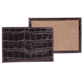 Обложка пропуск/карточка/проездной Premier-V-41 натуральная кожа коричн.темный крокодил (83)  118509