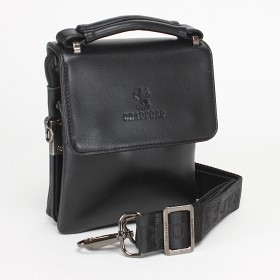 Сумка мужская искусственная кожа BF-ST 9827-3-3B,  5отд,  1внеш+2внут карм,  м/носить на поясе,  застежка-магнит,  плечевой ремень,  черный 120485