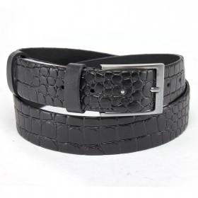 Ремень 35 мм BLACK TORTOISE взрослый 4000141 п/крок,  черный 126568