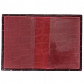 Обложка для паспорта Cayman-П 11К натуральная кожа бордо скат (67)  126809