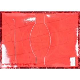 Обложка для паспорта н/к, крок; красный (киров);  тисн PASSPORT 127279