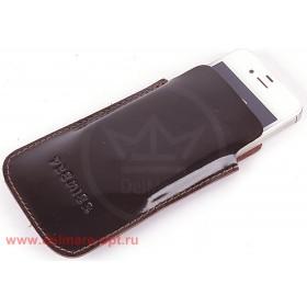 Футляр для мобильного телефона F-4,    коричн.темный гладкий   (88)