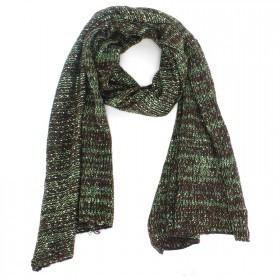 Шарф 45*190см,    акрил 100% с люрексом,    цвет-07,    коричневый+зеленый SALE