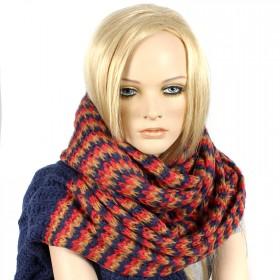 Шарф 60*190см,    акрил 100% 3 цвета,    цвет-08,    син+желт+роз SALE