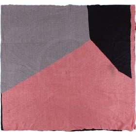 Палантин 70*190см,    акрил 100%,    цвет-09,    сер+роз+черн SALE