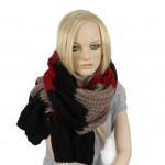 Шарф 60*190см,    акрил 100%,    полосы,    цвет-10,    черн+сер+бордо SALE
