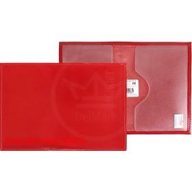Обложка для паспорта Cayman-П 11Л натуральная кожа алый шик (10)  136090