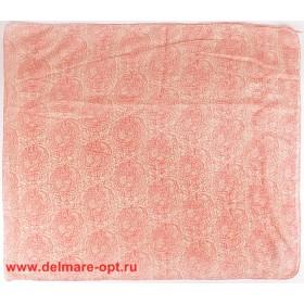 Палантин 70*180см,    полиэстер 100%,    плетение хлопок,    цвет-16/1/1-07,    розовый