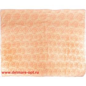 Палантин 110*180см полиэстер 100%,    плетение хлопок,    рис-58-1-3-06,    оранжевый