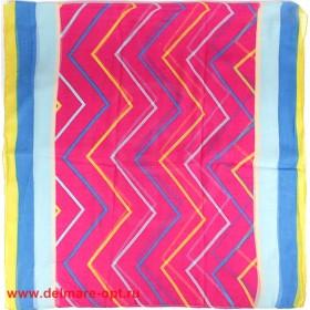 Палантин 95*185см полиэстер 100%,    плетение хлопок,    рис-16-6-1-06,    розовый