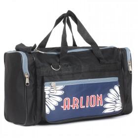 Сумка дорожная Арлион-6,    1отд,    3внеш карм,    плечевой ремень,    черный/синий    (Arlion)