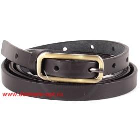 Ремень 15 мм BLACK TORTOISE жен 13400501 глад,  серебр пряжка,  черный 139551