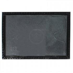 Обложка пропуск/карточка/проездной Premier-V-41 натуральная кожа черный игуана (100)  140228