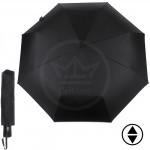 Зонт муж ТриСлона-790,    R=55см,    3слож,    суперавтомат,    8спиц,    ручка-прямая,    полиэстер-черный