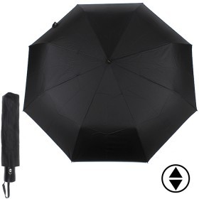 Зонт муж ТриСлона-790,  R=55см,  3слож,  суперавтомат,  8спиц,  ручка-прямая,  полиэстер-черный  140290