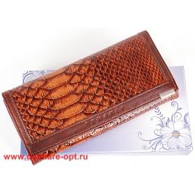 Кошелек женский натуральная кожа Temanli-4131-UD 6В-797,   (вставка иск/к),  защелка внутри,  7отд+10карм,  коричневый 146346