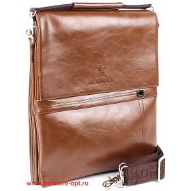 Сумка мужская искусственная кожа BF-9991-6KB,  5отд,  2внеш+3внут/карм,  плечевой ремень,  рыжий 146475
