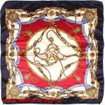 Платок шейный 50*50см,  полиэстер 100%,  плетение атлас,  31-2-1-32,  темносиний 146511