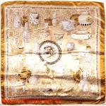 Платок головной 90*90см,  полиэстер 100%,  плетение атлас,  31-2-2-31,  бежевый 146517