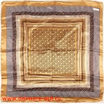 Платок головной 90*90см,  полиэстер 100%,  плетение атлас,  31-2-2-43,  бежевый 146519