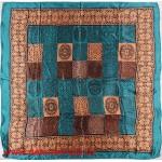Платок головной 90*90см,  полиэстер 100%,  плетение атлас,  31-2-2-45,  морская волна 146522
