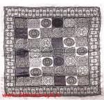 Платок головной 90*90см,  полиэстер 100%,  плетение атлас,  31-2-2-45,  серый 146523