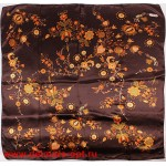 Платок головной 90*90см,  полиэстер 100%,  плетение атлас,  31-2-2-46,  коричневый 146525
