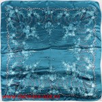 Платок головной 90*90см,  полиэстер 100%,  плетение атлас,  31-2-2-48,  синий 146528