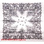 Платок головной 90*90см,  полиэстер 100%,  плетение атлас,  31-2-2-48,  белый 146530