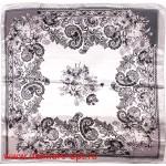 Платок головной 90*90см,  полиэстер 100%,  плетение атлас,  31-12,  белый 146531